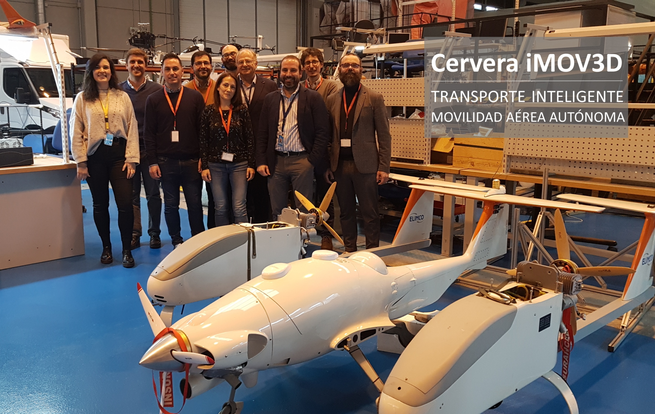 Cervera iMOV3D – Nuevas Tecnologías para el Transporte Inteligente basado en Movilidad Aérea Autónoma